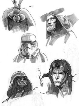 Star Wars - Sketches by MahmudAsrar