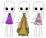 Lace and Ruffle Dress Adopts [OPEN] by moonfreak