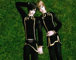 Lamperouge Brothers in Sims 2 by NegativeDanna
