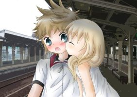 roxas and namine illust by blue-excal
