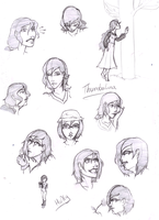 Thumbalina//Holly sketch dump by InTheAier