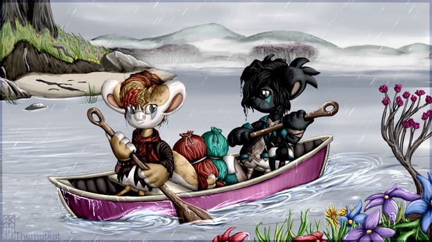 April Rain Canoeing by TheMatkat