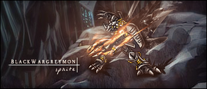 BlackWargreymon - Sprite by Dhencod