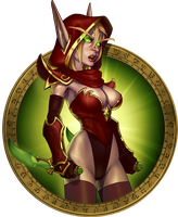 Blood Elf Girl by Petarsaur