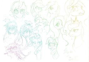 Collage of Thoughts 3...dim ponies by Septic-Art