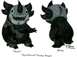 Sycodemus Model Sheet FINAL Concept Art by trinityweiss