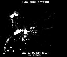 Ink Splatter Brush set by astrong253