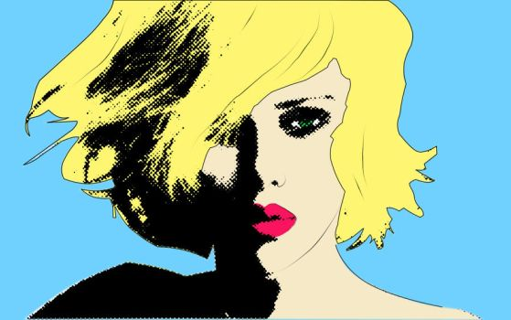 Scarlett Pop art by violetlight
