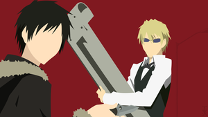 izaya and shizuo (durarara) minimalist by trafx99