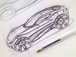 Ford Coupe Sketch by garyjpaterson