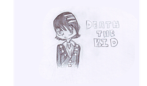 Death the kid bust sketch by Golden-Brush