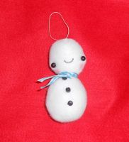 Kawaii Snowman Ornament V2 by kiddomerriweather