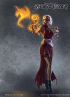 Fire Mage Concept Art by TylerWalpole