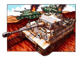 Tiger Tank 2 by Frohickey