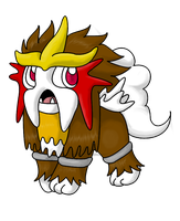 Chibi Entei :: redone by TheNymphia