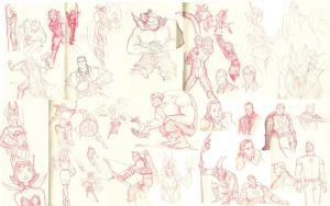 Avengers sketchdump by UrsulaCunningham