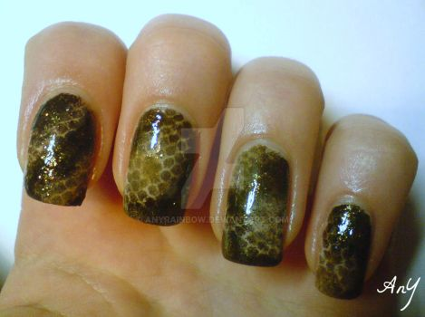 Snakeskin Nail Design by AnyRainbow