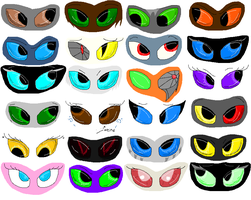Just a bunch of eyes. by Helkie-three