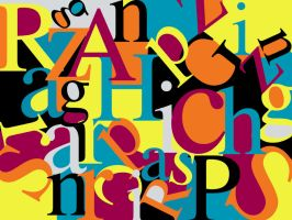 colorful typo by razangraphics