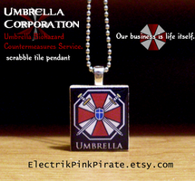 Resident Evil UBCS pendant by ElectrikPinkPirate