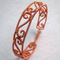 Copper Wire Wrapped Bracelet by sylva