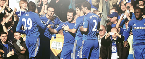 CFC players celebrating the goal vs Brentford by DONICFC