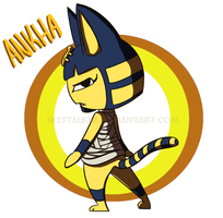 Her Royal Sassiness - Ankha by Skystalker