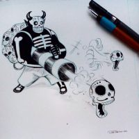 Inktober2015 day 2 by raultrevino