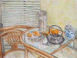 Watercolor Still life by xCarnationFox