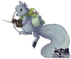 The Squirrel Archer by AmandaDaHamster