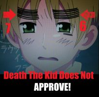 England- Death the Kid DOES NOT APPROVE by Hidananddeidara