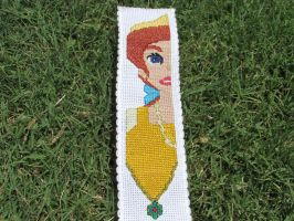 Princess Anastasia/Anya Cross-Stitch bookmark by DaydreamQueenMisha