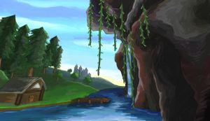 House on a Cliff by rosedragoness