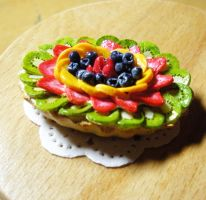 Tropical Fruit Tart Necklace by PetiteCreation