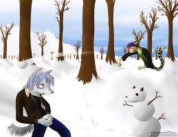 The Snowball Fight by SonOfNothing