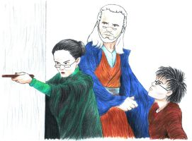 Harry Potter: Defending Harry (colour) by starryeyed-nz