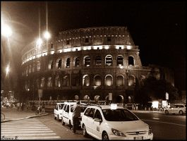 Colosseum at night by BiancaEnache