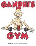Gandhi's Gym T-Shirt by sugarrayfinhead