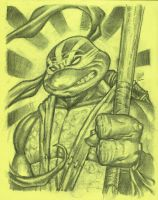 Future Donatello in charcoal by MichaelDooney