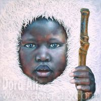 Portrait 87 (The child who has seen the Buddha) by Dora-Alis