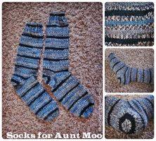 Socks for Aunt Moo by the-carolyn-michelle