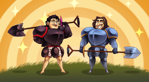 Let's shovel into the knight by Hennei