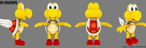 Koopa Paratroopa by 3dmodeling