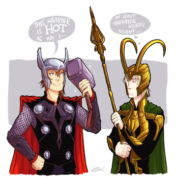 Thor-Loki-cosplay by somik