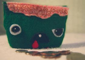 Zombie Coin Purse II by MollyMartin