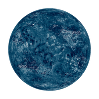 Blue Planet without Atmosphere by L0rdDrake