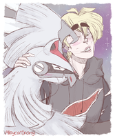 Gladion and Silvally by AlleycatIrony