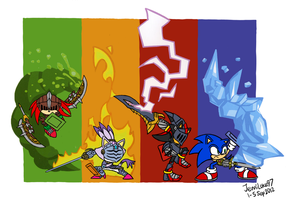 [Crossover] Sonic Crashers by JemiDove