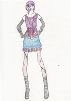 Daddy, I'm a zombie Dixie outfit sketch by Tomboy14