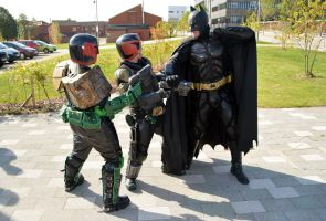 Stoke-Con-Trent 2014 (57) Judge Dredd vs Batman by masimage